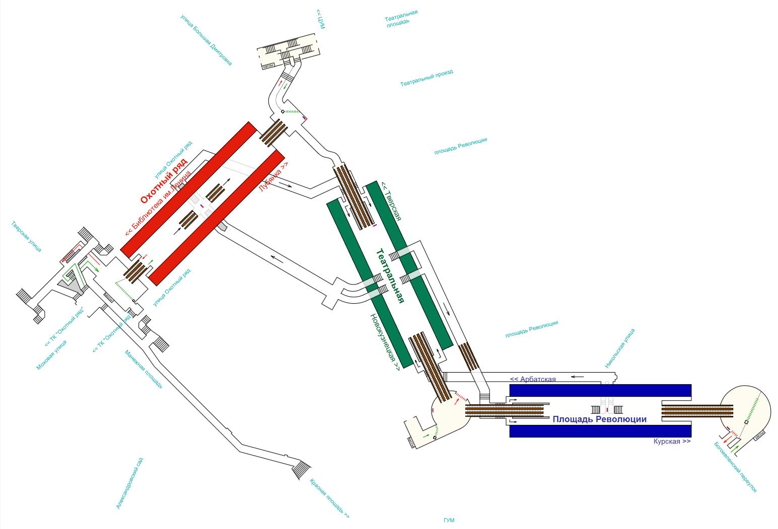 Метро площадь восстания схема выходов